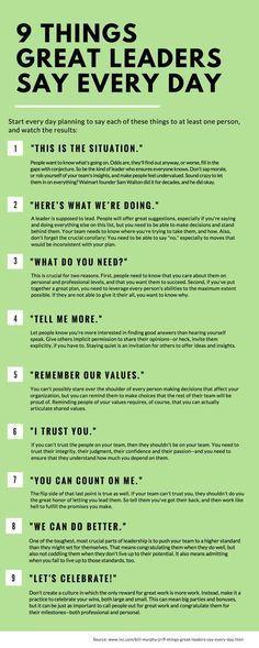 9 Dinge, die großartige Führungskräfte jeden Ta…