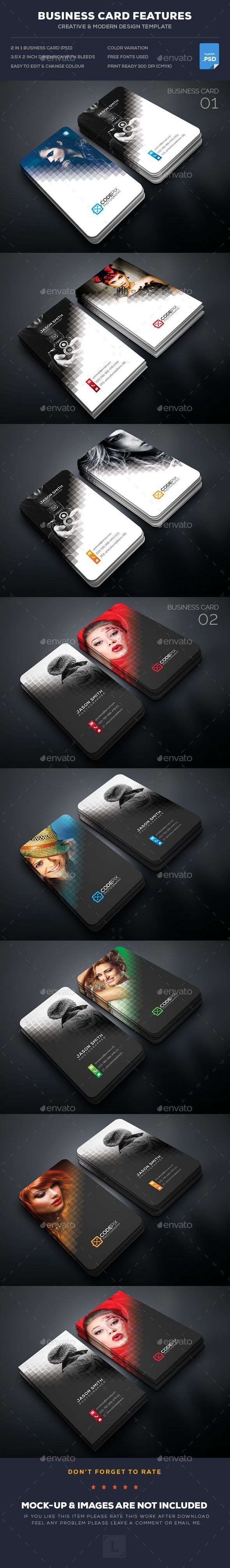 Photography Business Card Template PSD Bundle