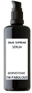 DMAE Supreme Serum, instant LIFT!!!  This serum lift your face immediately!  Use it  3 times in 1 hour to get full saturation. Up to 5 times or more in one evening. Then maintain it am/pm. Apply and rub circles until serum turns white. Relax and let it work! You are going to see flawless skin with a nice rosey glow. Dab some concealer if you need it and you are good to go!