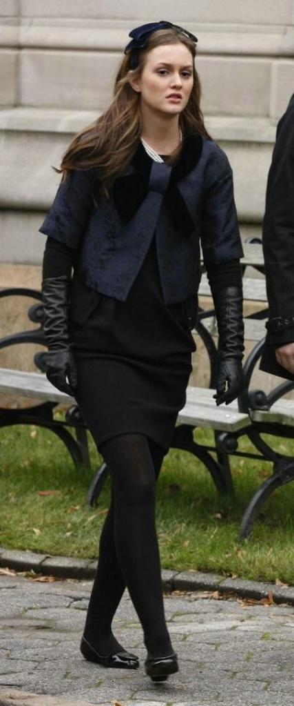 Kay Unger jacket.  Tory Burch ballet flats.  Basha headband.