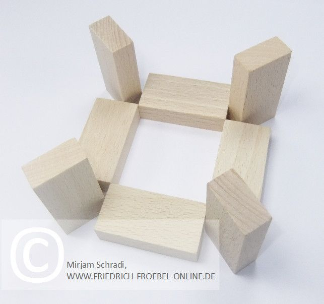 Spielgaben: Holzbausteine der Spielgabe 4 nach Froebel - Schönheitsform/ Mandala