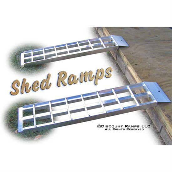 Aluminum Dual Runner Shed Ramps 3 Long Lawn Mower
