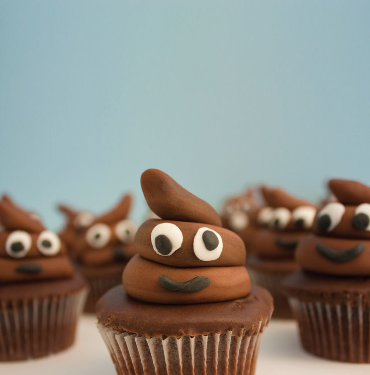 poop cupcakes?  Bahahaha!!  Must make these for a family gathering!  Always end up talking about poop...