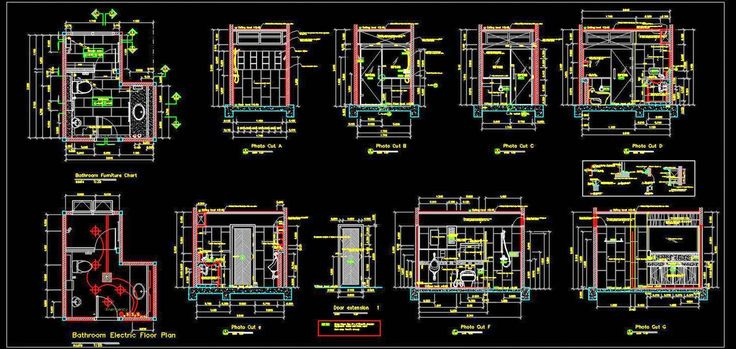 Toilet Detail Drawing Autocad DWG File Download in 2020