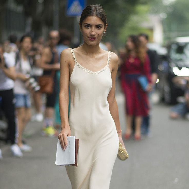 Is Going Braless the Next Big Street Style Trend?: As if the sweltering Summer months in NYC don't already inspire a looser interpretation of the public dress code — bikini bottoms, playsuits, you name it — we've seen some ladies losing another layer, namely, their underwear.