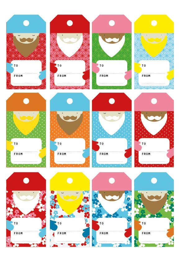 Printable Santa Labels from Pysselbolaget!
