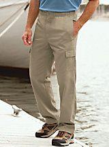Scandia Woods Men's Cargo Pants with Elastic Waist   Blair