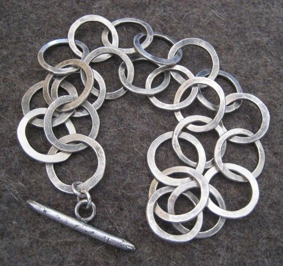 Artisan Links Sterling Silver Bracelet by VictoriaTeague on Etsy, $275.00