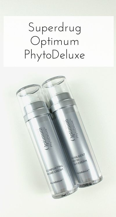 Superdrug's Optimum PhytoDeluxe day and night creams are premium skincare products for over-40 skin, but without the premium pricetag. They contain Platinum Matrix-EM and Black Diamond Truffle Extract to help hydrate the skin, reduce fine lines and improve elasticity and firmness (sponsored post)