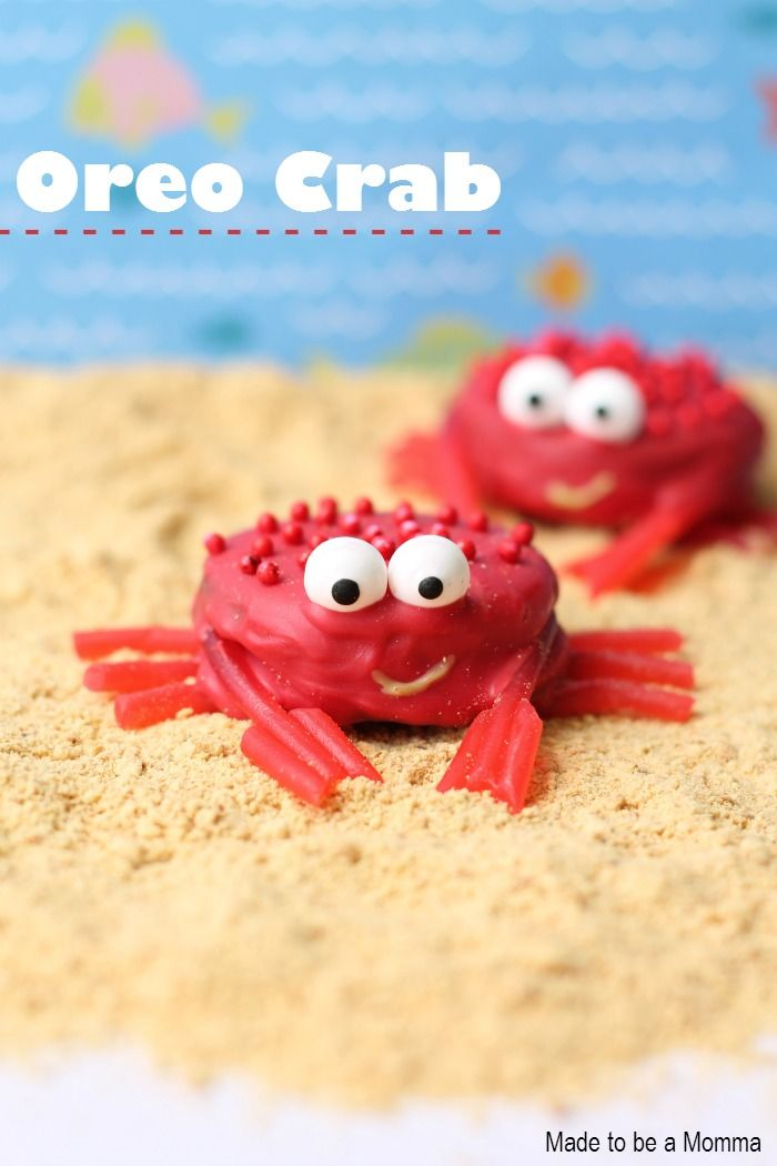 Oreo Crabs - Wouldn't these be fun for summer?!
