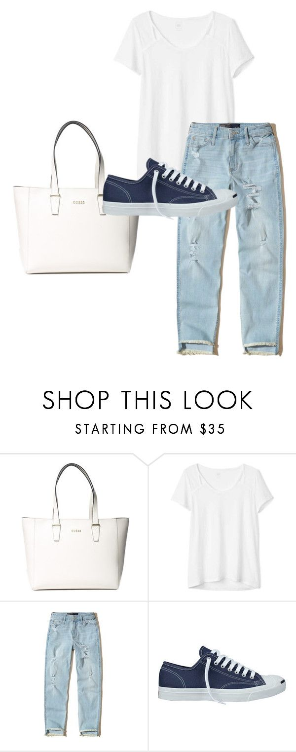 """""""Cool clothes"""" by isizuniga on Polyvore featuring GUESS, Gap, Hollister Co. and Converse"""