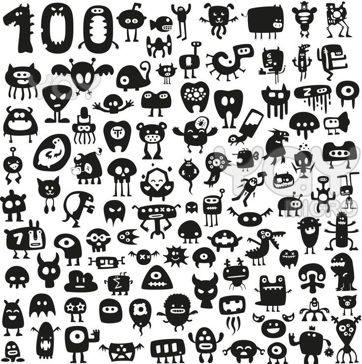 Doodle Art Character Design : Best siluetas estampar images on pinterest drawings