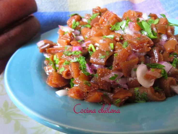 COCINA CHILENA: ENSALADA DE COCHAYUYO (Chilean kelp/seaweed salad)