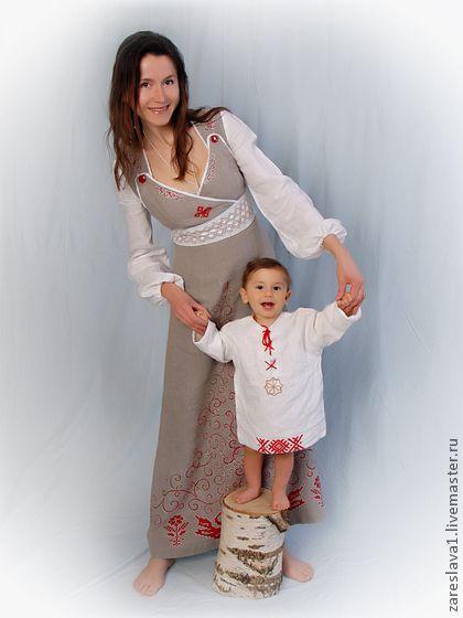 """Для будущих мам ручной работы. Ярмарка Мастеров - ручная работа Сарафан для кормящей мамы """"Лебеди"""". Handmade."""