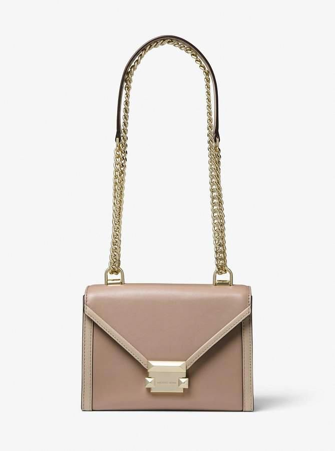 808afff9f4cd6 MICHAEL Michael Kors Whitney Small Two-Tone Leather Convertible Shoulder Bag   WomensShoulderbags