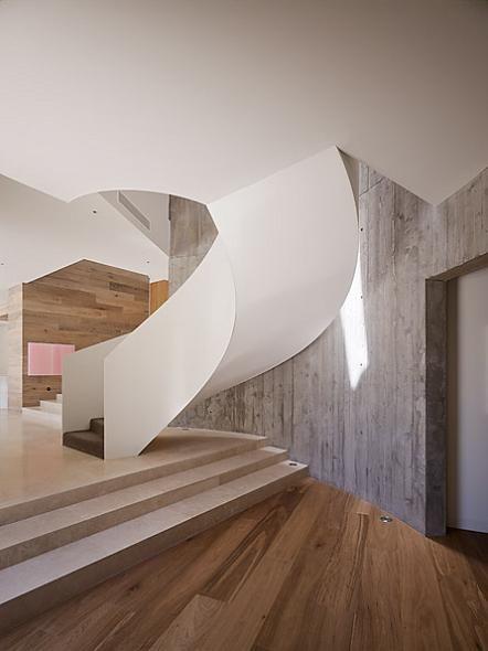 The Yarra HouseInterior Design, Spirals Staircases, Living Spaces, Staircas Design, Staircases Design, Staircase Design, Wood Floors, Timber Floors, House Interiors Design