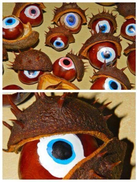 Crafty conker idea! #autumn                                                                                                                                                                                 More