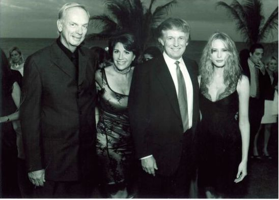 Bud and Marla Paxson, Donald Trump & Melania Knaus at Stop the Violence Face the music event with Rod Stewart