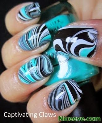 New Water Marble Nails for 2014 style