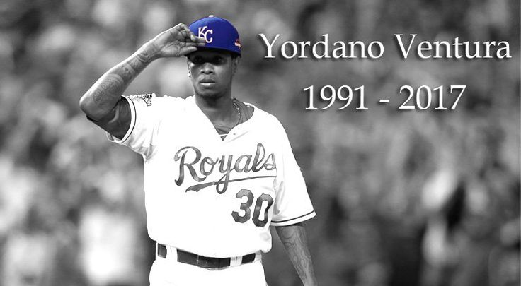 Royals pitcher Yordano Ventura has died as a result of a car crash in the Dominican Republic. He was 25.  Dominican national police identified Ventura as the victim Sunday morning. Ventura's agency confirmed his death to MLB.com.  The cause of the crash is still under investigation.  The Royals released a statement Sunday morning.