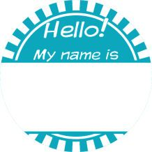 Name tag template, printed on labels. Put PHQ title on there too, since that's the title that counts