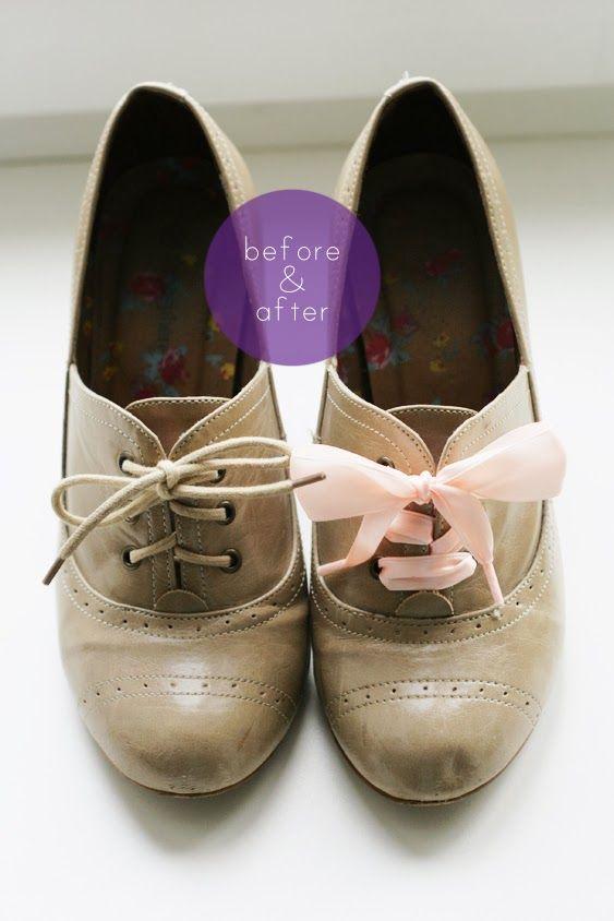 RIBBONS; Fantastic DIY Beautify Shoes with Ribbon Laces!