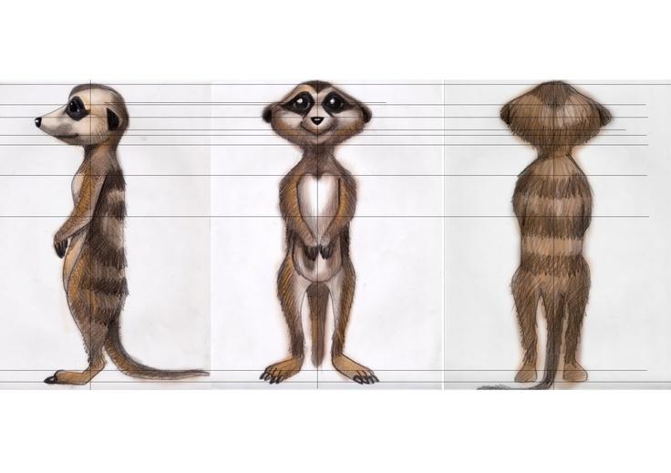 Suricato realizado por Junglebox - diseño de personaje por Freddy Leal