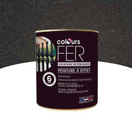 Peinture Fer effet forgé Noir 750 ml 21