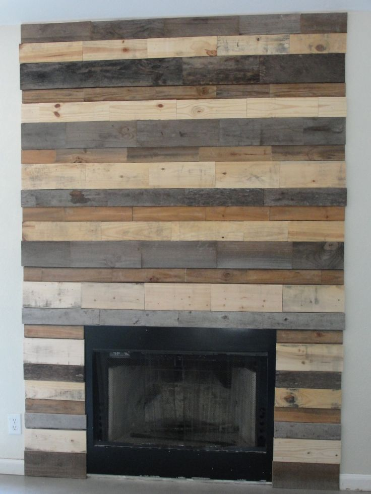 9 best pallet fireplace images on pinterest fireplace for Wood fireplace surround designs