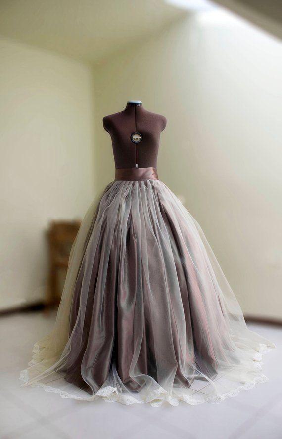 efca3308ac High low tulle skirt Full maxi skirt Long black tulle skirt Ball gown  Asymmetrical skirt Long satin skirt Wedding gown Prom skirt High waist in  2019 ...