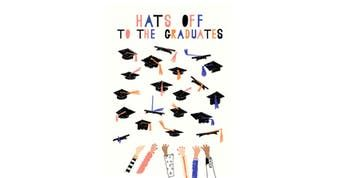 Graduation Greeting Card with Envelope - Cap Toss by Mr. Boddington's Studio | Spring - Free Shipping. On Everything.