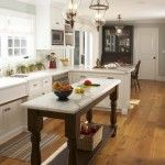kitchen island with cooktop in Kitchen Traditional with dark wood island bay area architects