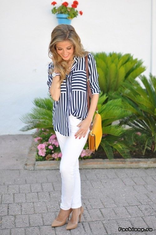 Белые штанишки - тренд сезона 2014 года (часть 2, лето) / белые брюки полнят
