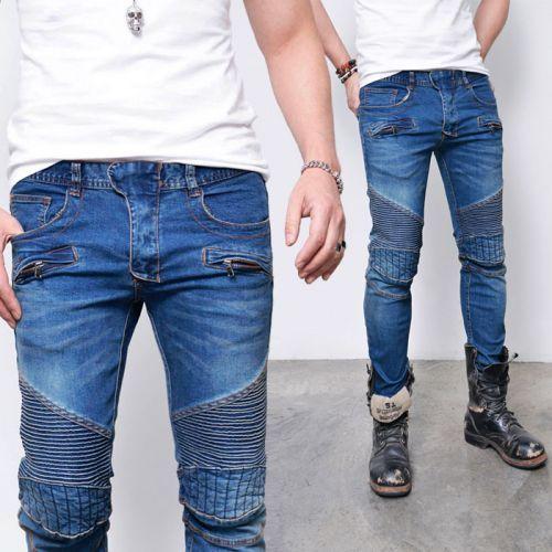 Edge Quilting Seaming Slim Biker Jeans 290 via SNEAKERJEANS STREETWEAR SHOP
