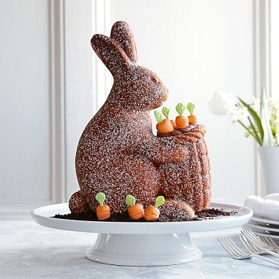 I'm definitely making this cake with the Nordic Ware Easter Bunny Cake Pan. #Easter #cake #bunny