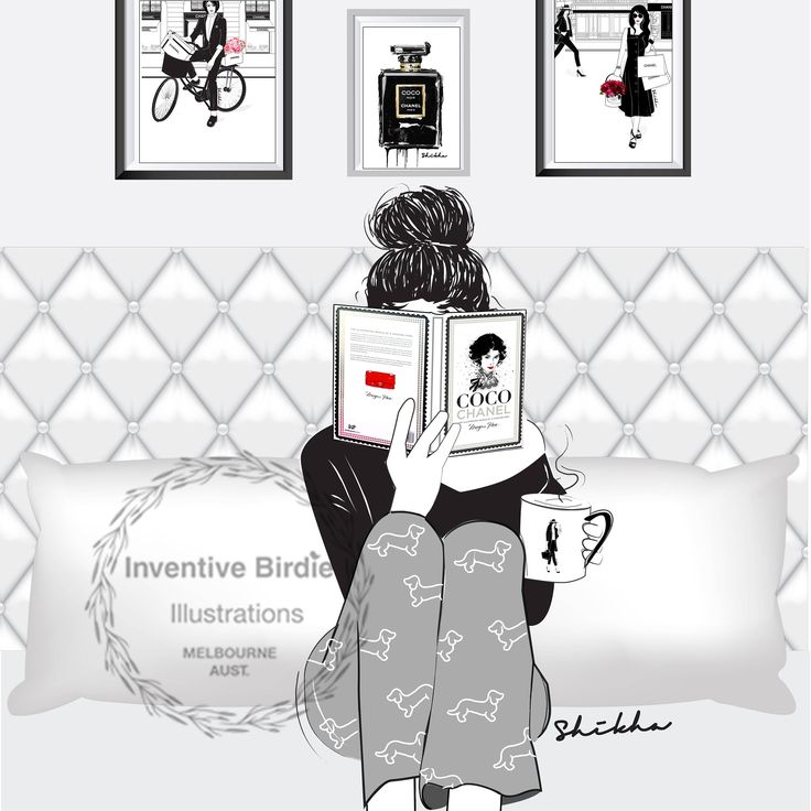 Lovely Lazy Sunday Morning by Inventive Birdie | Sunday Illustration | Girl with book | Coffee Girl by Inventivebirdie on Etsy https://www.etsy.com/au/listing/541598042/lovely-lazy-sunday-morning-by-inventive