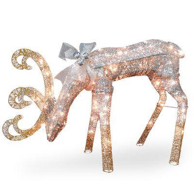 Crystal Feeding Deer Christmas Decoration · Reindeer DecorationsOutdoor ...