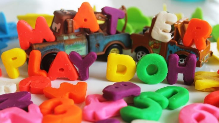 Play Doh Numbers Letters n Fun Cars 2 Mater Learn ABC Play-Doh