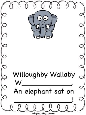 "FREE. ""Willoughby Wallaby Woo"" Name activities. Using a song from ""Raffi the singable songs collection"""