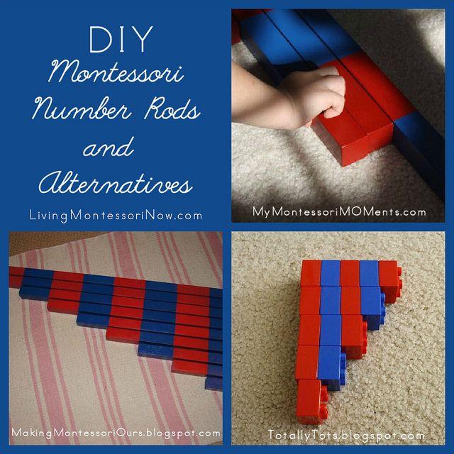 DIY Montessori Number Rods by Deb Chitwood, via FlickrLivingmontessorinow Com, Blog Post, Traditional Wooden, Math Activities, Montessori Numbers, Mondays 8211, Numbers Rods, Montessori Mondays, Diy Numbers