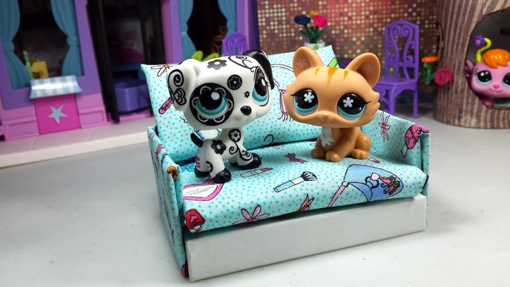 Easy DIY Custom LPS Doll Accessories: How to Make a Tiny Sofa Couch ♦ Do...