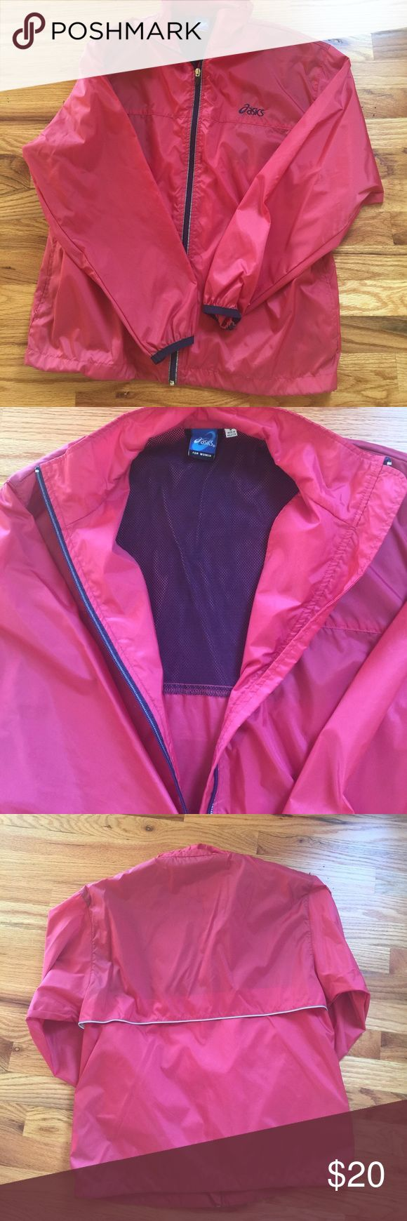 Asics for women windbreaker Asics for women windbreaker. Perfect for running or other outdoor sport. Two zippered pockets to keep your valuables. Never worn Asics Jackets & Coats Utility Jackets