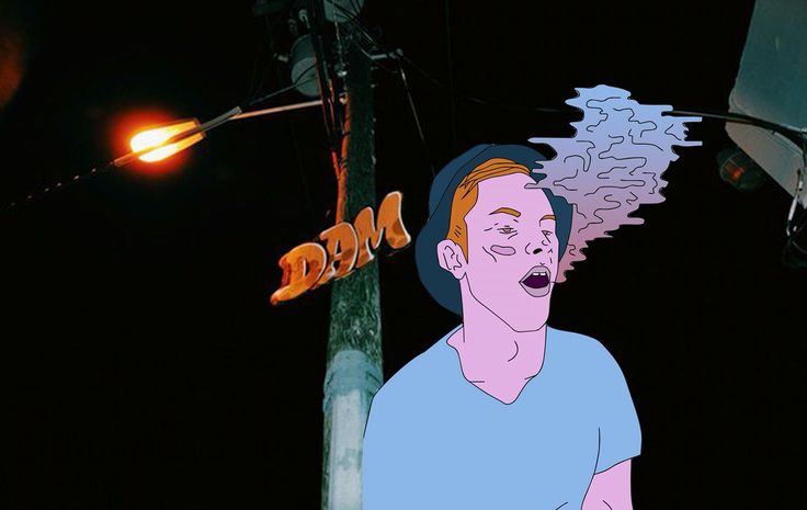 #illustration #man #smoke #miami