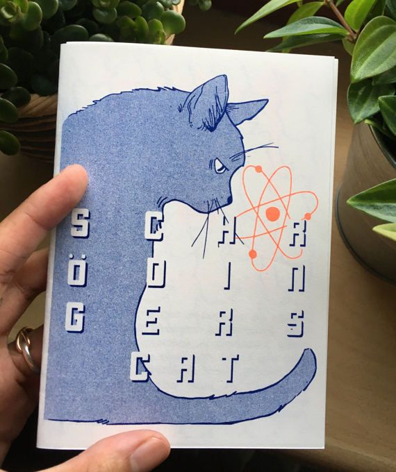 Scrödingers chat Risograph Zine par TwoPhotonArt sur Etsy