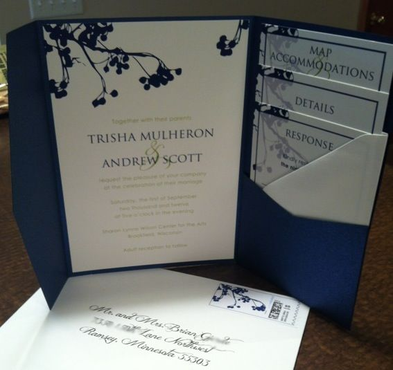 Invites suite wedding blue and green cards and pockets for Cards and pockets com