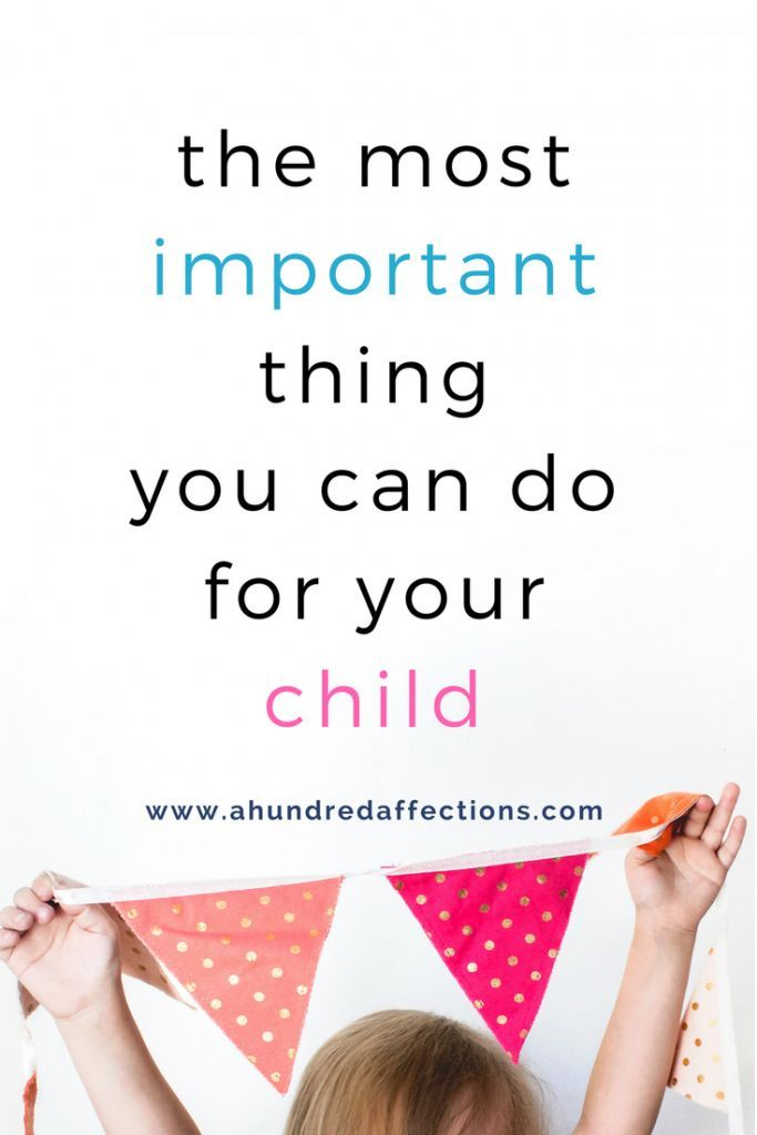There are lots of things our kids need from us - unconditional love, security, affirmation, boundaries, discipline - but I think there's one thing that trumps them all.