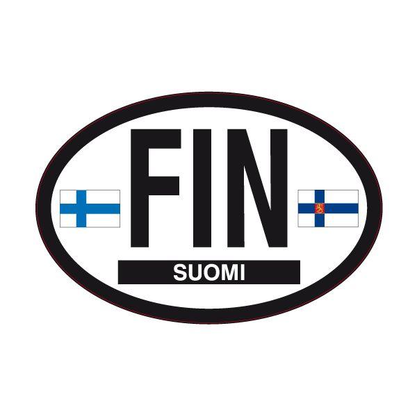 Pegatinas: Suomi (Finlandia) #bandera #pegatina #TeleAdhesivo