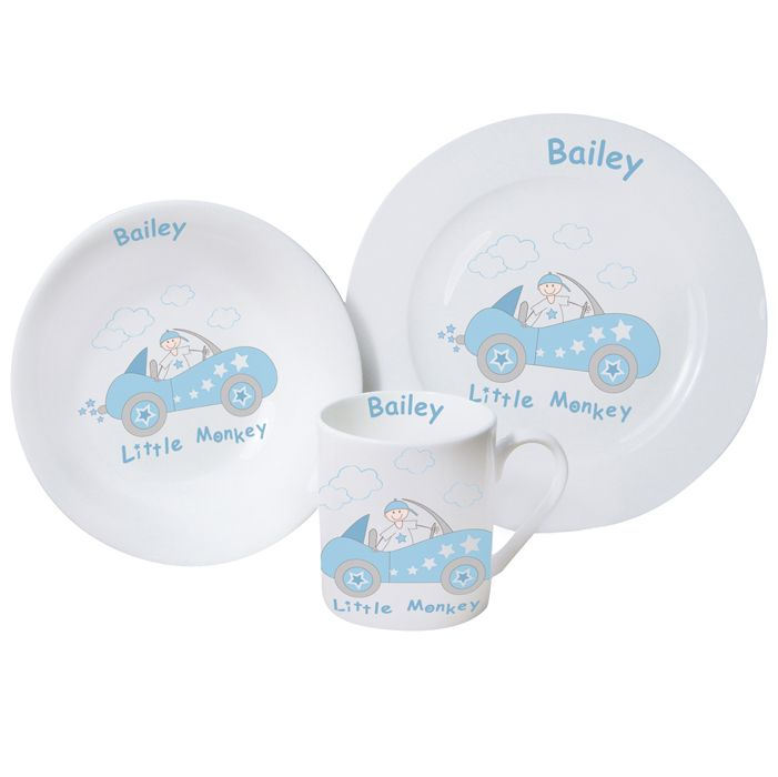 Personalised Breakfast Gift Set for Newborn Baby Boy Christening or Birthday - Little Monkey u0026 Car -  sc 1 st  Pinterest & 14 best Personalised Breakfast Sets images on Pinterest | Breakfast ...