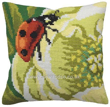Buy Ladybird Cushion Front Chunky Cross Stitch Kit online at sewandso.co.uk
