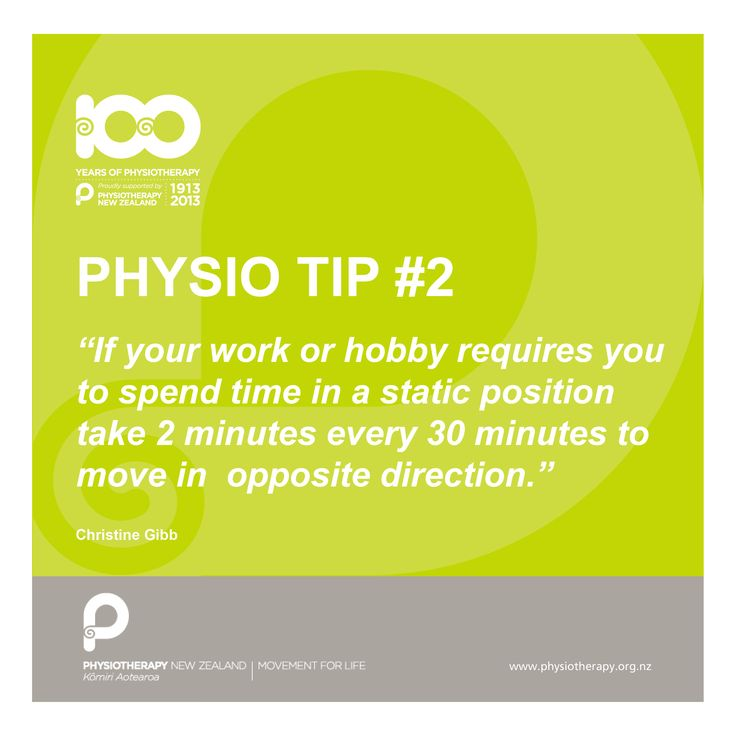 Take two minutes every day. #Physiotips #100years